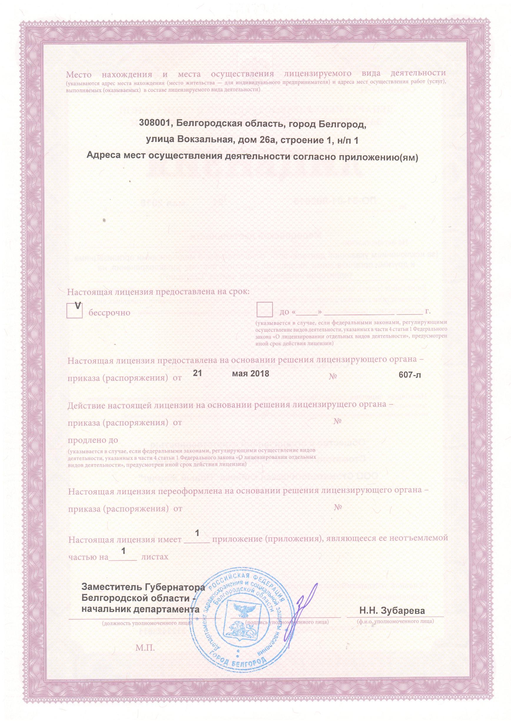 Лицензия НЖ лист2